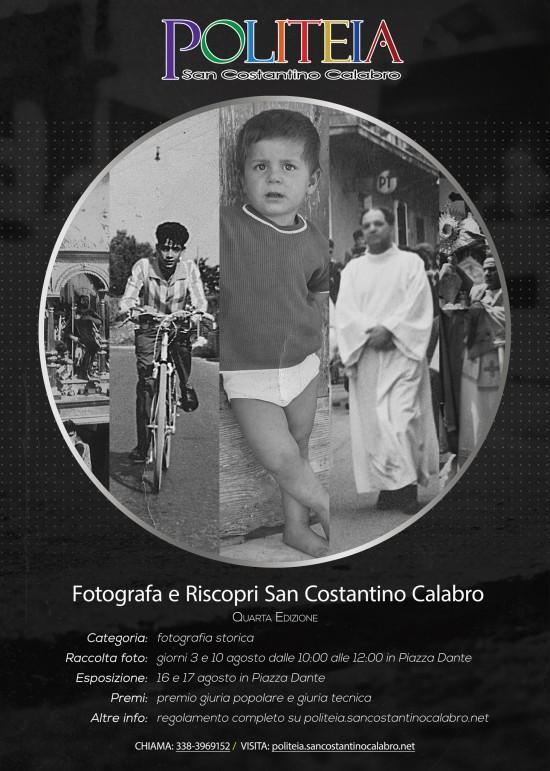 """Quarta edizione del concorso fotografico """"Fotografa e riscopri San Costantino Calabro"""""""